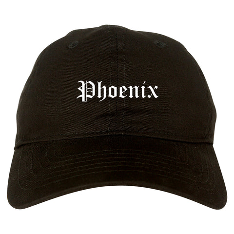 Phoenix Arizona AZ Old English Mens Dad Hat Baseball Cap Black
