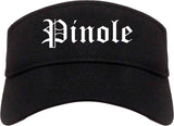 Pinole California CA Old English Mens Visor Cap Hat Black