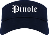 Pinole California CA Old English Mens Visor Cap Hat Navy Blue