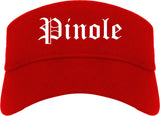 Pinole California CA Old English Mens Visor Cap Hat Red