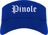Pinole California CA Old English Mens Visor Cap Hat Royal Blue
