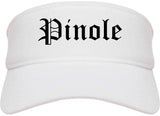 Pinole California CA Old English Mens Visor Cap Hat White