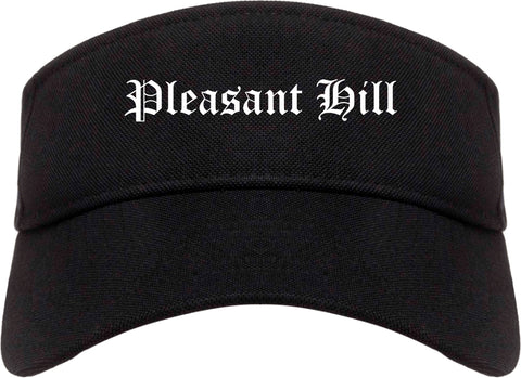 Pleasant Hill Iowa IA Old English Mens Visor Cap Hat Black