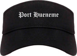 Port Hueneme California CA Old English Mens Visor Cap Hat Black