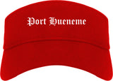 Port Hueneme California CA Old English Mens Visor Cap Hat Red