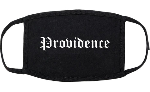 Providence Rhode Island RI Old English Cotton Face Mask Black