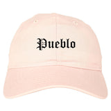 Pueblo Colorado CO Old English Mens Dad Hat Baseball Cap Pink