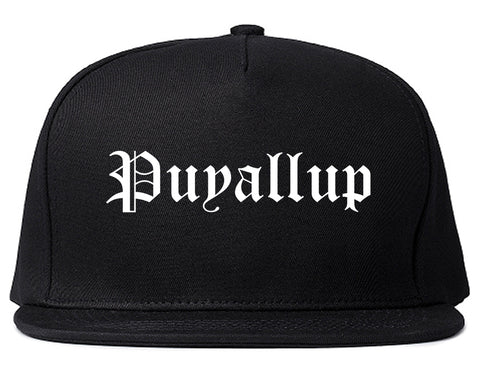 Puyallup Washington WA Old English Mens Snapback Hat Black