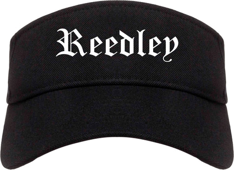 Reedley California CA Old English Mens Visor Cap Hat Black