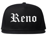 Reno Nevada NV Old English Mens Snapback Hat Black