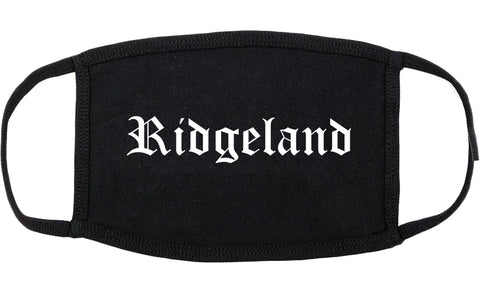 Ridgeland Mississippi MS Old English Cotton Face Mask Black