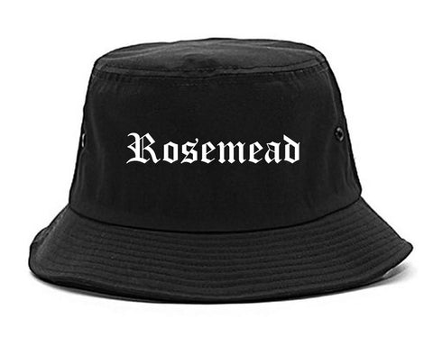 Rosemead California CA Old English Mens Bucket Hat Black