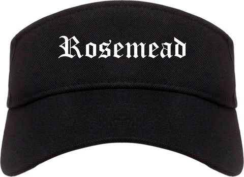 Rosemead California CA Old English Mens Visor Cap Hat Black