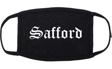 Safford Arizona AZ Old English Cotton Face Mask Black