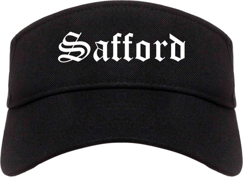 Safford Arizona AZ Old English Mens Visor Cap Hat Black