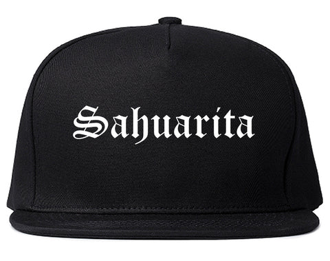 Sahuarita Arizona AZ Old English Mens Snapback Hat Black