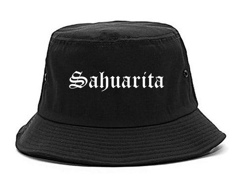 Sahuarita Arizona AZ Old English Mens Bucket Hat Black