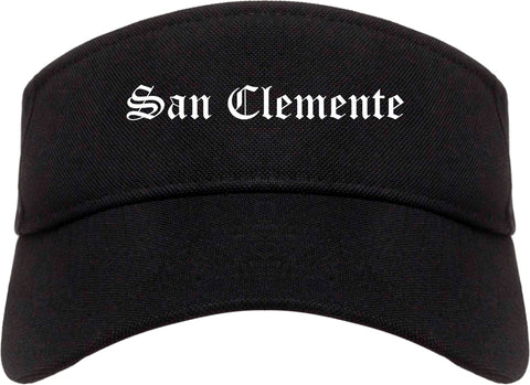 San Clemente California CA Old English Mens Visor Cap Hat Black