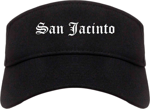 San Jacinto California CA Old English Mens Visor Cap Hat Black