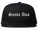 Santa Ana California CA Old English Mens Snapback Hat Black