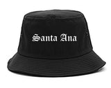 Santa Ana California CA Old English Mens Bucket Hat Black