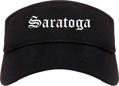 Saratoga California CA Old English Mens Visor Cap Hat Black