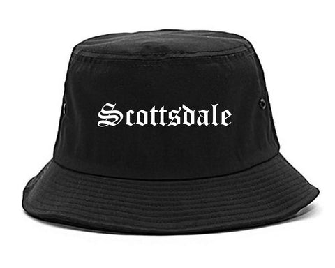 Scottsdale Arizona AZ Old English Mens Bucket Hat Black