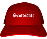 Scottsdale Arizona AZ Old English Mens Trucker Hat Cap Red