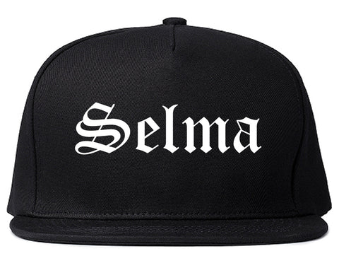 Selma Alabama AL Old English Mens Snapback Hat Black