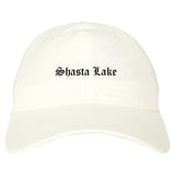 Shasta Lake California CA Old English Mens Dad Hat Baseball Cap White