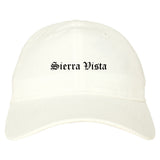 Sierra Vista Arizona AZ Old English Mens Dad Hat Baseball Cap White