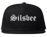 Silsbee Texas TX Old English Mens Snapback Hat Black