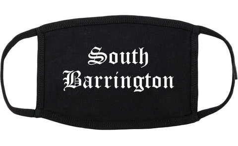 South Barrington Illinois IL Old English Cotton Face Mask Black
