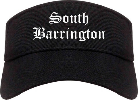 South Barrington Illinois IL Old English Mens Visor Cap Hat Black