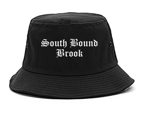 South Bound Brook New Jersey NJ Old English Mens Bucket Hat Black