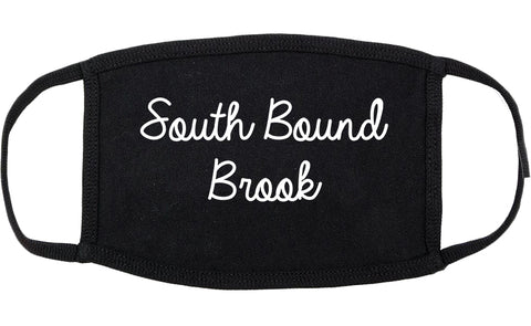 South Bound Brook New Jersey NJ Script Cotton Face Mask Black