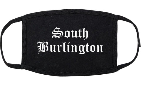 South Burlington Vermont VT Old English Cotton Face Mask Black