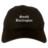South Burlington Vermont VT Old English Mens Dad Hat Baseball Cap Black