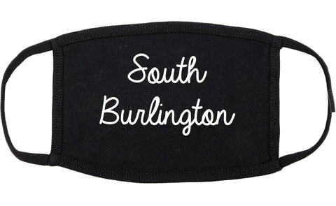 South Burlington Vermont VT Script Cotton Face Mask Black