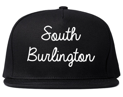 South Burlington Vermont VT Script Mens Snapback Hat Black