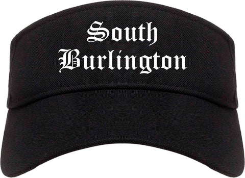 South Burlington Vermont VT Old English Mens Visor Cap Hat Black