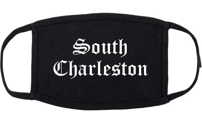 South Charleston West Virginia WV Old English Cotton Face Mask Black