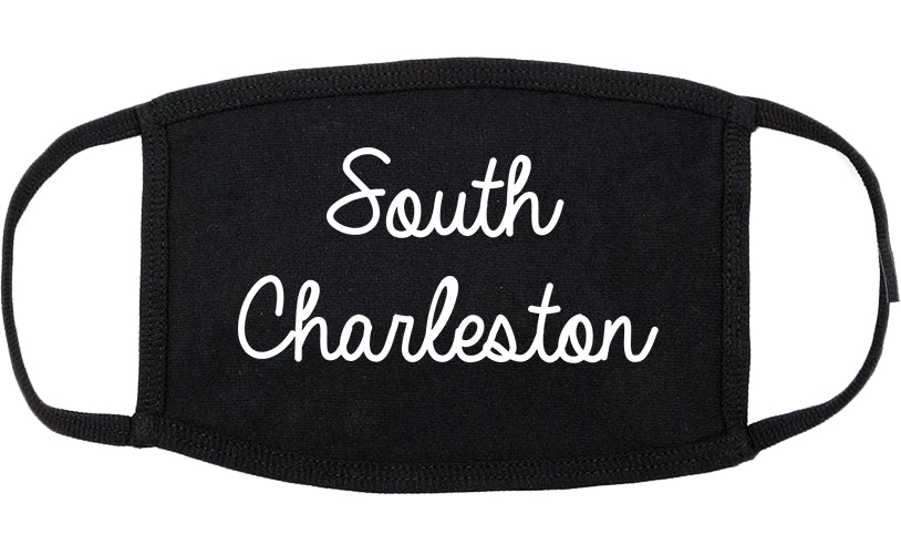 South Charleston West Virginia WV Script Cotton Face Mask Black