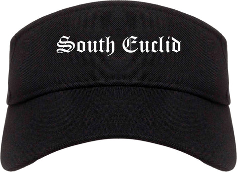 South Euclid Ohio OH Old English Mens Visor Cap Hat Black
