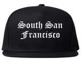 South San Francisco California CA Old English Mens Snapback Hat Black