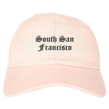 South San Francisco California CA Old English Mens Dad Hat Baseball Cap Pink