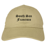 South San Francisco California CA Old English Mens Dad Hat Baseball Cap Tan