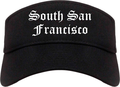 South San Francisco California CA Old English Mens Visor Cap Hat Black