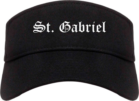St. Gabriel Louisiana LA Old English Mens Visor Cap Hat Black