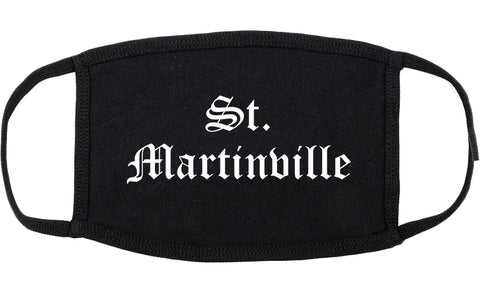 St. Martinville Louisiana LA Old English Cotton Face Mask Black